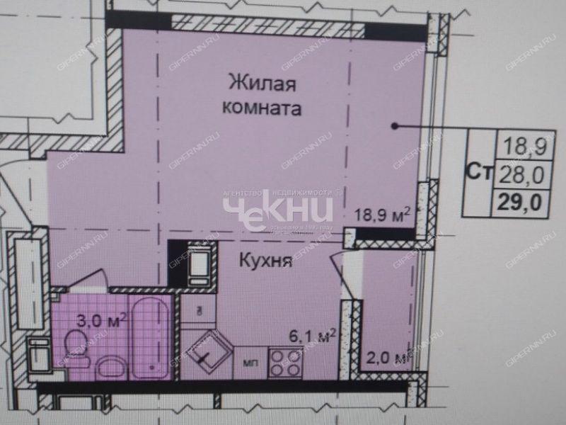 квартира-студия в новостройке на улице Культуры