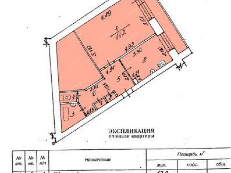 однокомнатная квартира на улице Силкина дом 36 город Саров