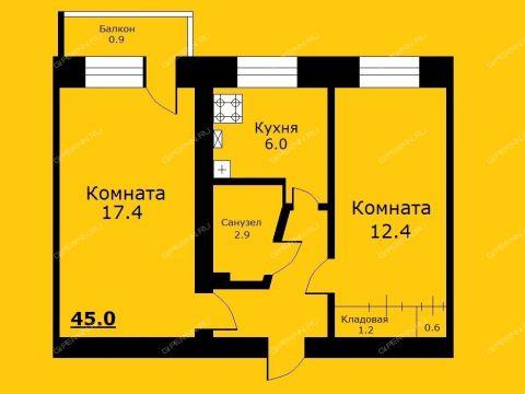2-komnatnaya-ul-yablonevaya-d-12a фото